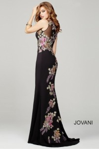 Платье Jovani 33679 black multi