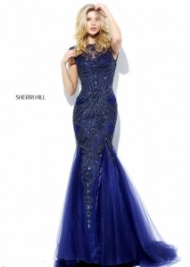 Sherri Hill 50516 navy