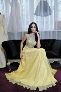 Платье Jovani 80862 yellow