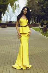 Платье Nicole Bakti 6671 yellow