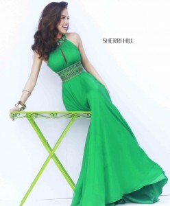 Sherri Hill 11086 emerald